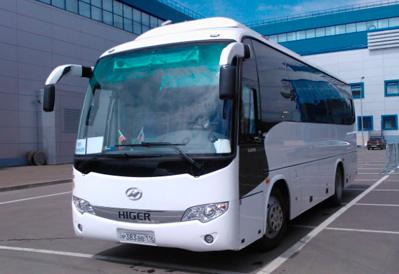 Заказ автобуса Higer 35+1 в Казани