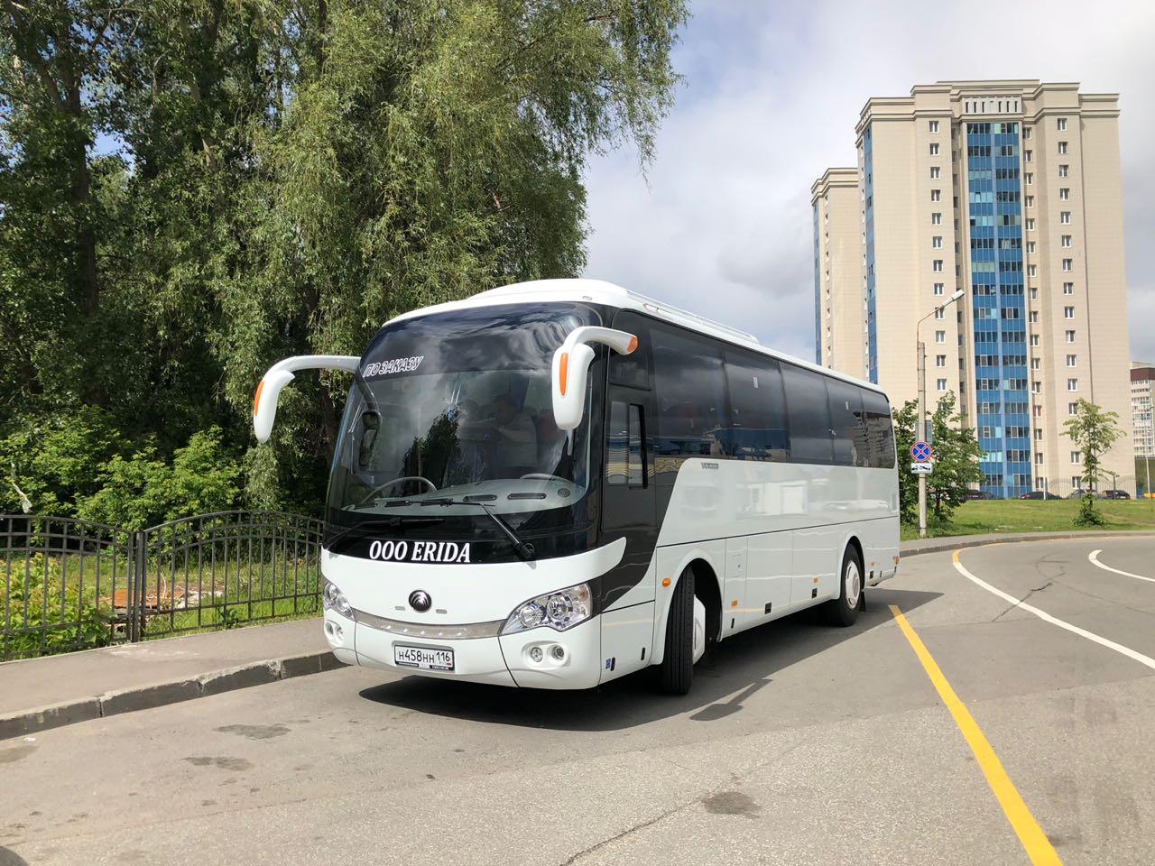 Заказ автобуса Yutong 39+1 в Казани