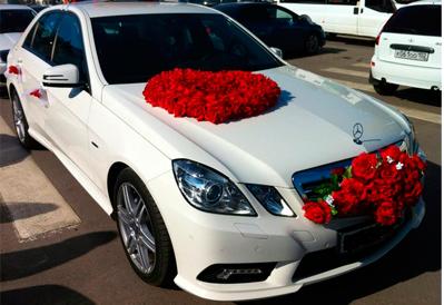 Заказ Mercedes-Benz E200 на свадьбу в Казани