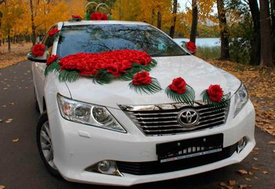 Заказ Toyota Camry на свадьбу в Казани